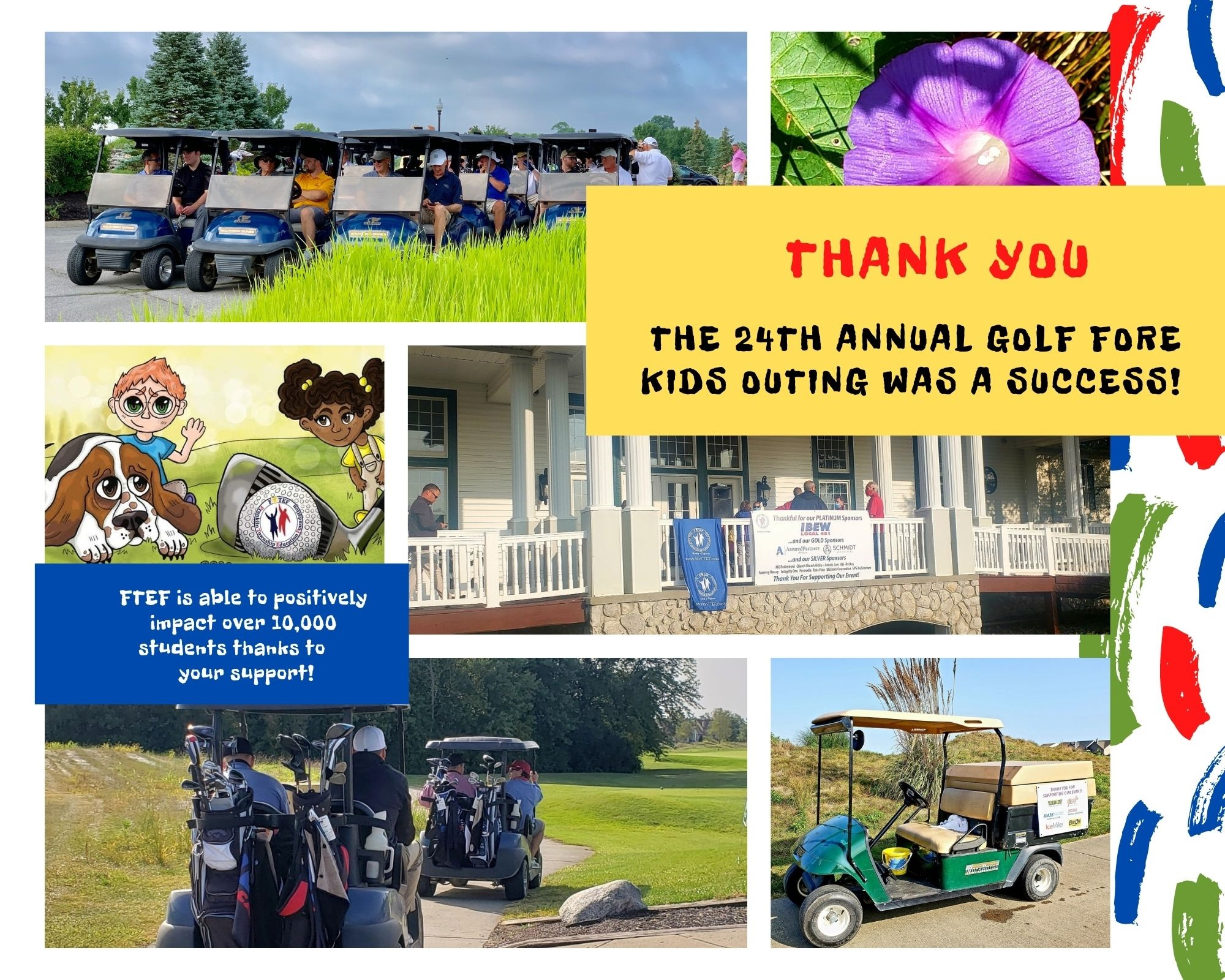 Golf FORE KIDS 2020 Thank You